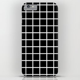 Back to School - Simple Grid Pattern - Black & White - Mix & Match with Simplicity of Life iPhone Case
