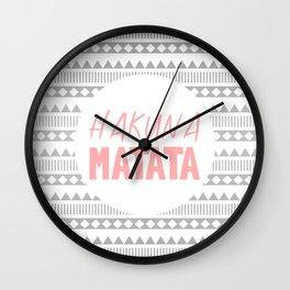 Hakuna Matata II Wall Clock