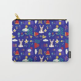 Tortoise and the Hare is one of Aesop Fables blue Carry-All Pouch