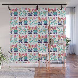 Gnome Love Pattern Wall Mural