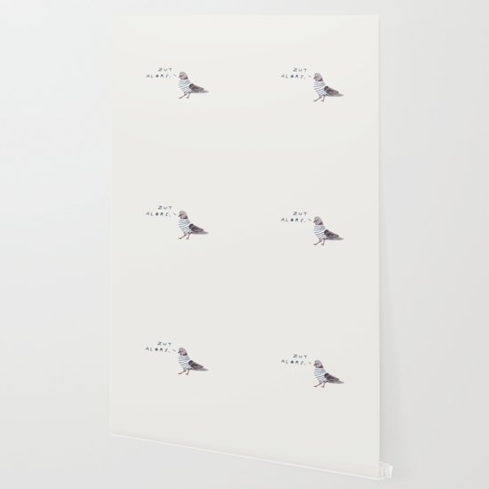 Zut Alors // French Birds Wallpaper