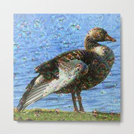Dream Creatures, Goose, DeepDream Metal Print