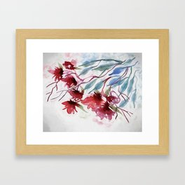 Weeping Red Framed Art Print