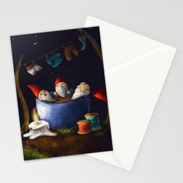 Bathing Gnomes Stationery Cards