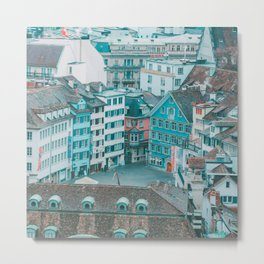 Zurich Views I Metal Print