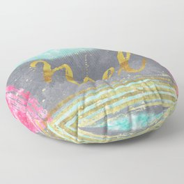 NOEL - Merry modern abstract christmas Floor Pillow
