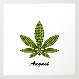 Birthstoned Leaf of Month, August Peridot Art Print