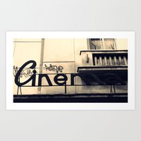 cinema Art Prints featuring Cinema by Ioana Stef