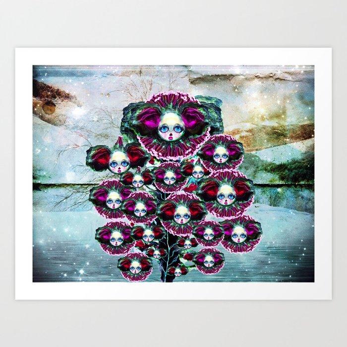 Beasts of Botanica - Velvet Queen Sunflowers Art Print