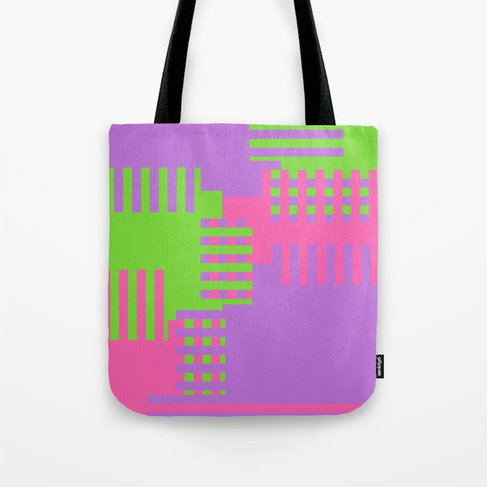 Colorful Abstract Q Tote Bag