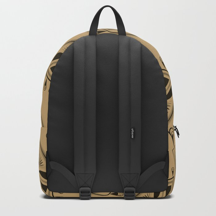 Abstraction. The medallion. Backpack