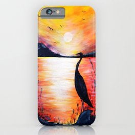 Evening in mountains iPhone Case
