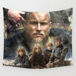 Ragnar and his sons Wall Tapestry