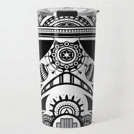 Mandala Stormtrooper - Black. A loyal solider.  Travel Mug