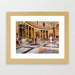 The Pantheon, Rome, Italy Framed Art Print