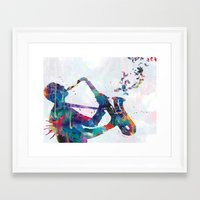 music Framed Art Prints featuring music by mark ashkenazi