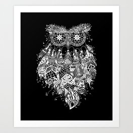 Dream Catcher on Black Art Print