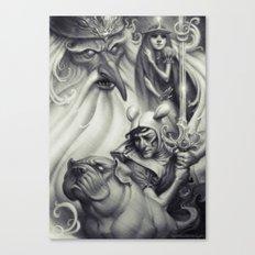 Another Castle :: Duotone Print Canvas Print