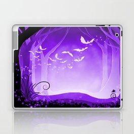 Dark Forest at Dawn in Amethyst Laptop & iPad Skin