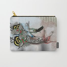 The Swing Colorful Ink drawing Art by Saribelle Carry-All Pouch