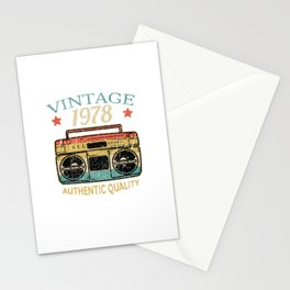 Vintage 1978 Radio Authentic Quality B-Day Gift Stationery Cards