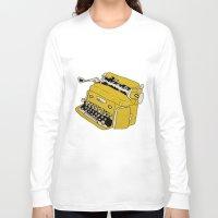 grunge Long Sleeve T-shirts featuring Grunge Typewriter by Nan Lawson