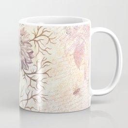 Vintage Flowers and Dragonflies Coffee Mug