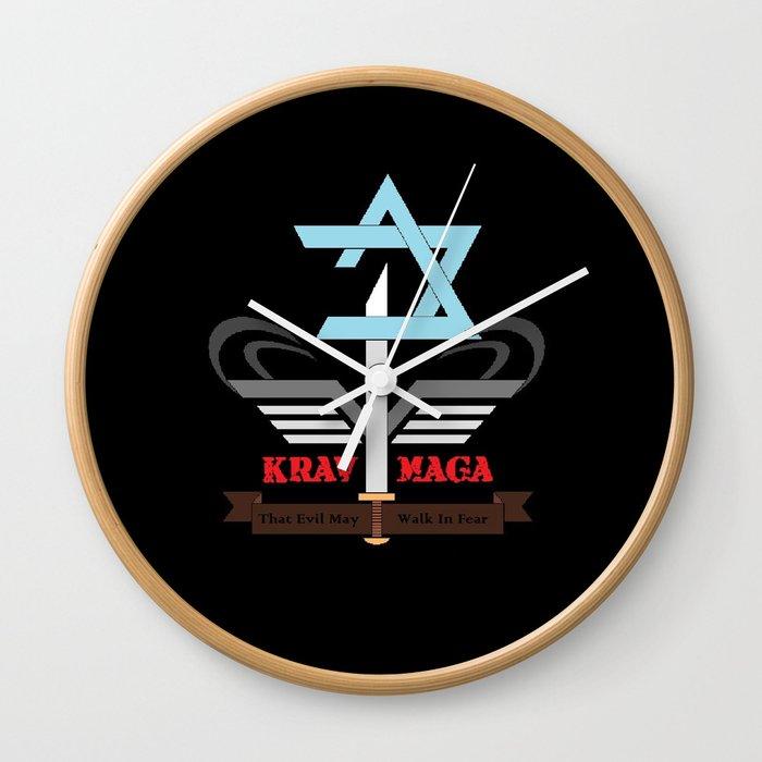 Newage Krav Maga Logo Wall Clock By Rrowell Society6