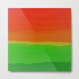 Candy Watermelon Abstract Metal Print