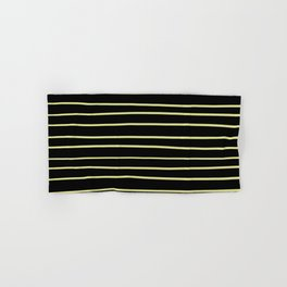 VA Lime Green - Lime Mousse - Bright Cactus Green - Celery Hand Drawn Horizontal Lines on Black Hand & Bath Towel