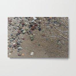 Rocks by The Shore Metal Print