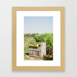 Start Box Framed Art Print