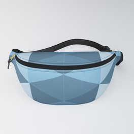 Blue Triangles Fanny Pack