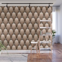 Brown Scallops Wall Mural