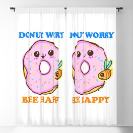 DONUT WORRY BEE HAPPY Blackout Curtain