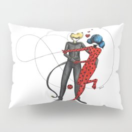Ladybug and Chat Noir by Studinano Pillow Sham
