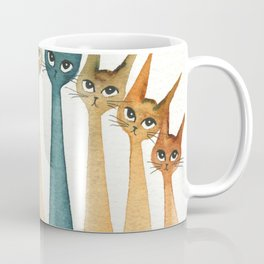 Roanoke Whimsical Cats Coffee Mug