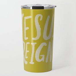 Jesus Reigns x Mustard Travel Mug