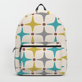 Mid Century Modern Star Pattern 927 Backpack