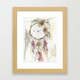Dream catcher in earthy tones Framed Art Print