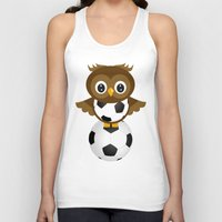 soccer Tank Tops featuring Soccer Owl by Simone Gatterwe