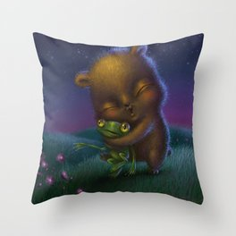 """Bear Hug"" Throw Pillow"
