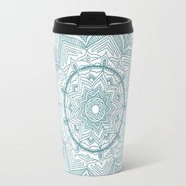 Teal Flower Mandala Travel Mug