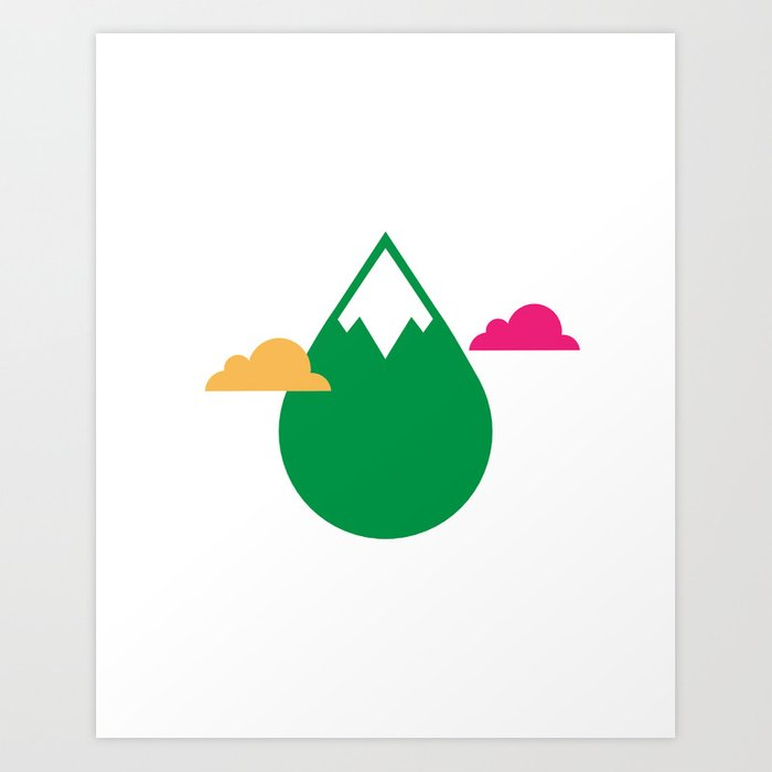 THE MISSING SCARF - Mountain Art Print