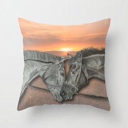 Equestrian Love Throw Pillow
