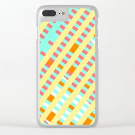 African Inspired Tropical Thatch Print Clear iPhone Case