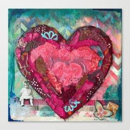 Chevron Love. Canvas Print