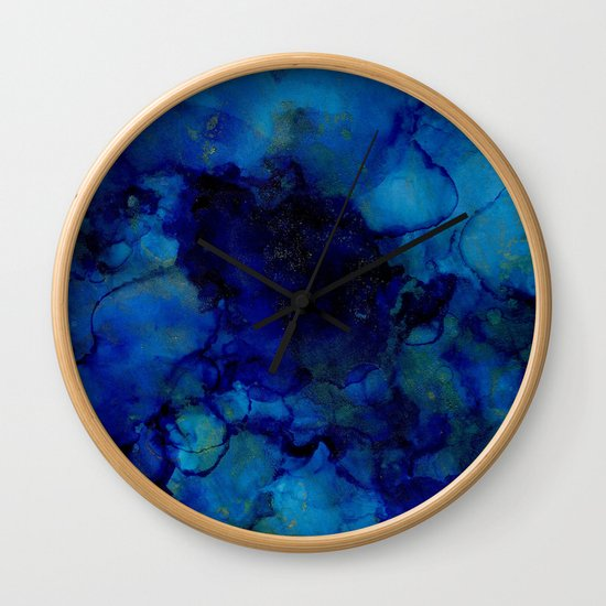 NEW Alcohol Ink Deep Blue Trip I by stephaniesommerladbello