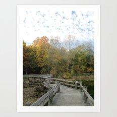 Bridge Into Autumn Art Print