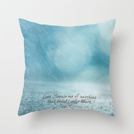 Cleanse me Psalm 139 Throw Pillow